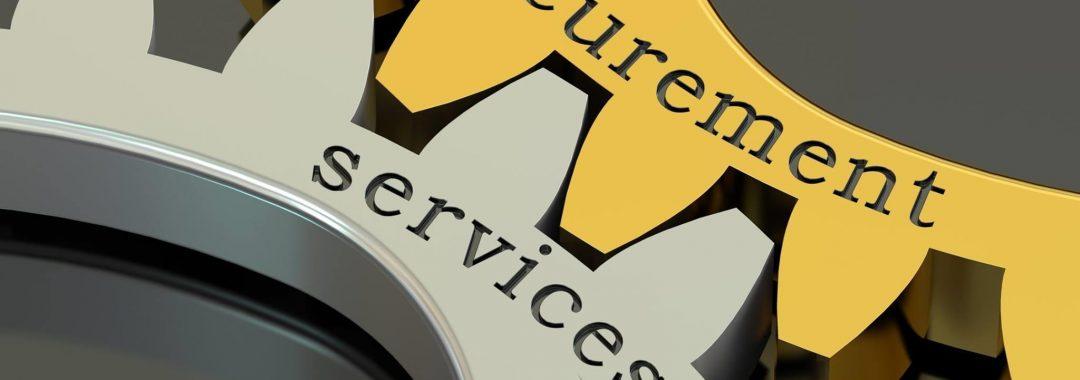 Cogs showing procurement services